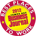 Best places to work. 2012 Tampa Bay Business Journal.